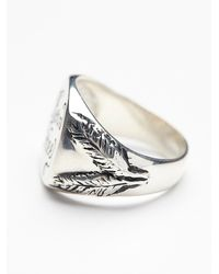 Free People - Metallic Souvenir Jewelry Womens Born Free Signet Ring - Lyst