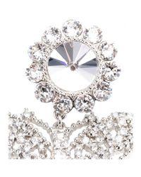 Miu Miu | White Crystalembellished Butterfly Earrings | Lyst