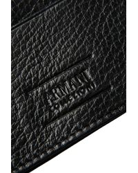 Armani - Black Card Holder for Men - Lyst