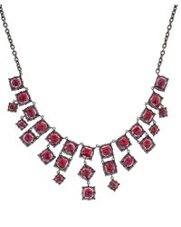 Larkspur & Hawk | Red Silver Amethyst Bella Front Centre Necklace | Lyst