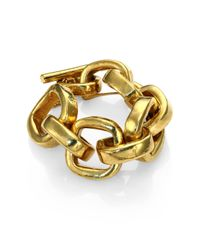 Vaubel - Metallic Square Link Bracelet - Lyst