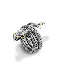 John Hardy | Metallic Dragon Coil Ring | Lyst
