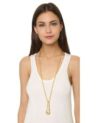Maiyet - Metallic Elongated Ring Necklace - Gold - Lyst