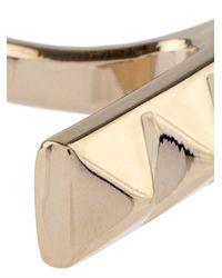 Valentino - Metallic Rockstud Bar Ring - Lyst