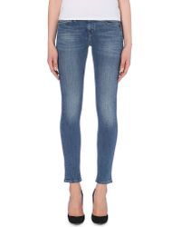 M.i.h Jeans | Blue Breathless Skinny Mid-rise Jeans | Lyst