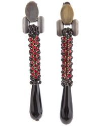 Laura B - Red 'Vieen' Earrings - Lyst
