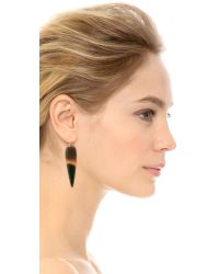 Heather Hawkins - Brown Water Buffalo Horn Earrings - Natural - Lyst