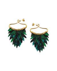 Ayaka Nishi | Green Fishscale Earrings | Lyst