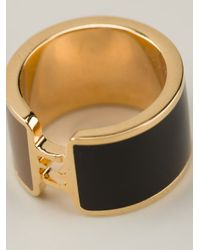 Fendi - Metallic Logo Ring - Lyst
