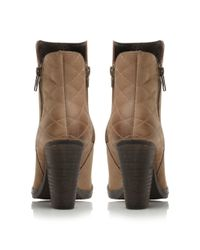 Steve Madden | Brown Ryatt-q Quilted Leather Ankle Boots | Lyst