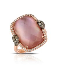 Marco Moore | Pink Amethyst And Quartz Doublet, Diamond And 14k Rose Gold Ring | Lyst