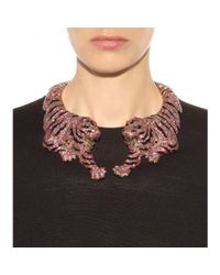 Roberto Cavalli - Pink Crystal-Embellished Necklace - Lyst