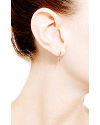 Janis Savitt - Metallic Chain Hoop Earrings - Lyst