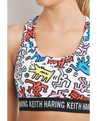 Forever 21 - Multicolor High Impact - Keith Haring Sports Bra - Lyst