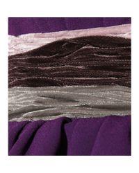 Bottega Veneta Purple Dress with Peplum and Velvet Detail