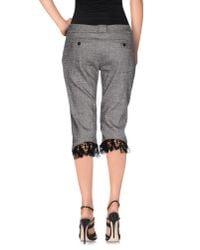 Blumarine - Gray Bermuda Shorts - Lyst