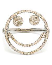 Rosa De La Cruz   Metallic Smiley Face Diamond Ring   Lyst