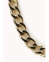 Forever 21 | Metallic Underground Curb Chain Choker | Lyst
