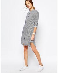 SELECTED - Blue Livi Shirt Dress In Pinstripe - Lyst