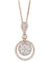 Le Vian | Pink Diamond Diamond Double Circle Pendant (7/8 Ct. T.w.) In 14k Rose Gold | Lyst