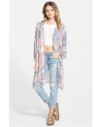 Billabong - Multicolor 'dazed In Luv' Print Kimono - Lyst