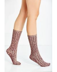 Urban Outfitters - Natural Basic Marled Boot Sock - Lyst
