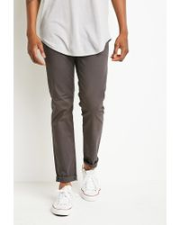 Forever 21 | Gray Classic Twill Pants You've Been Added To The Waitlist for Men | Lyst