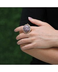 Pamela Huizenga | Metallic Purple Agate Ring | Lyst