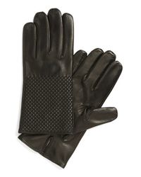 Want Les Essentiels De La Vie - Black 'dumas' Quilted Lambskin Gloves for Men - Lyst