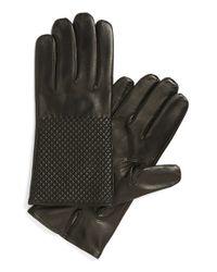 Want Les Essentiels De La Vie | Black 'dumas' Quilted Lambskin Gloves for Men | Lyst