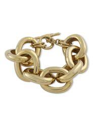 Kenneth Jay Lane | Metallic Polished Gold Chain Link Bracelet | Lyst