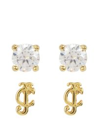 Juicy Couture | Metallic Jc Charm School Earring Set | Lyst