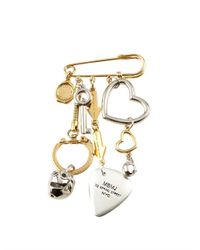 Marc By Marc Jacobs - Metallic Multi-Charm Pin - Lyst