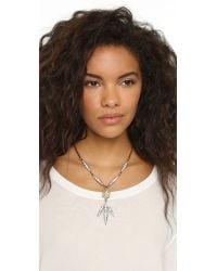 Lulu Frost | Metallic Datura Necklace - Clear/pearl | Lyst