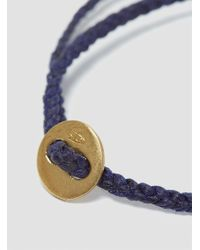 Scosha - Blue Braided Wax Button Bracelet Indigo for Men - Lyst