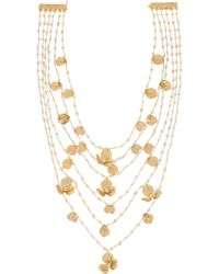 Rosantica | Metallic Poesia Gold-Tone Freshwater Pearl Necklace | Lyst