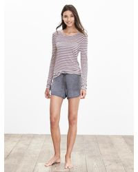 Banana Republic | Pink Striped Lounge Crew | Lyst
