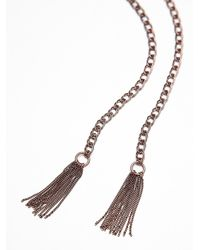 Free People - Metallic Womens Stone Tassel Bolo - Lyst