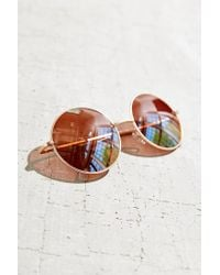 Urban Outfitters - Metallic Carousel Round Sunglasses - Lyst