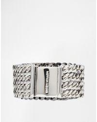 Karen Millen | Metallic Ombre Multi Chain Bracelet | Lyst