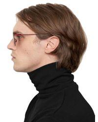 Mykita - Red Margiela Rounded Aviator Sunglasses for Men - Lyst