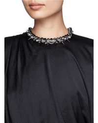 Joomi Lim - Black Skull Spike Cotton Braid Necklace - Lyst