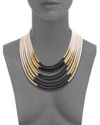 ABS By Allen Schwartz | Metallic Color Mix Ombré Multi-row Coil Necklace | Lyst