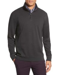 Ted Baker | Green 'lavern' Modern Slim Fit Quarter Zip Funnel Neck Knit Pullover for Men | Lyst
