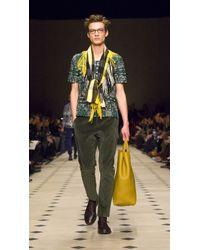 Burberry | Green Mirror Cotton Shirt for Men | Lyst