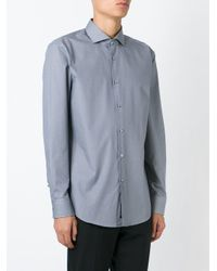 BOSS - Gray Micro Dot Shirt for Men - Lyst