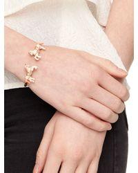 Kate Spade | Metallic Dainty Sparklers Wishbone Cuff | Lyst