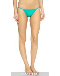 Calvin Klein - Blue Sleek String Bikini Panties - Sonoma - Lyst