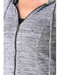 Bebe - Gray Space Dye Knit Hoodie - Lyst
