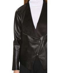 BB Dakota | Black Bradford Draped Front Jacket | Lyst